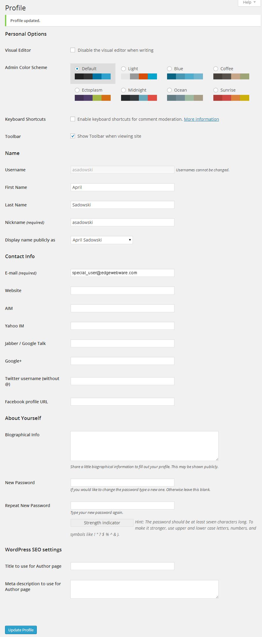 Admin Edit User
