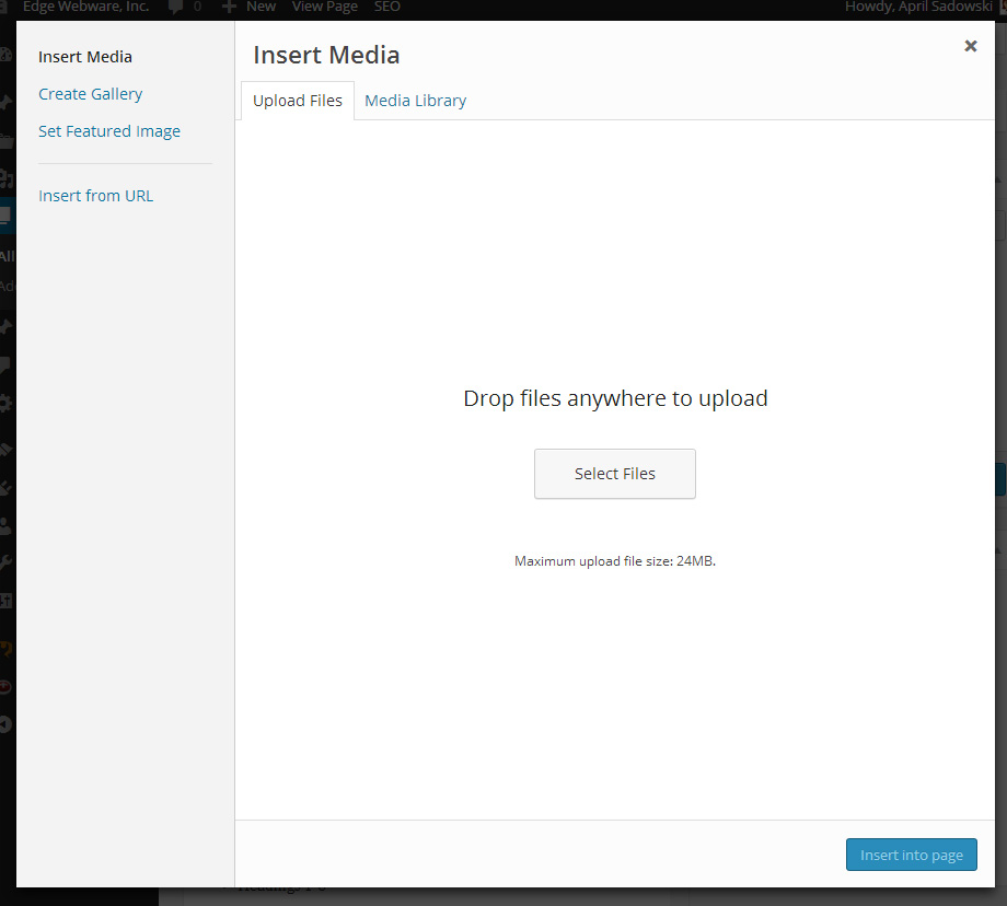 Upload New Media Files