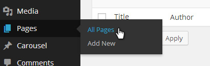 Pages - All Pages Menu